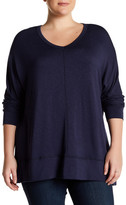 Bobeau V-Neck Slub Sweater (Plus Size)