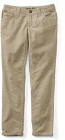 Lands' End Little Girls Pencil Leg Corduroy Jeans-Desert Khaki