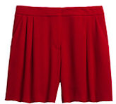 Lands' End Women's Pleated Shorts-Fresh Tomato