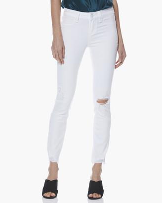 Paige Verdugo Ankle Faux Pockets-Vivid White Destructed
