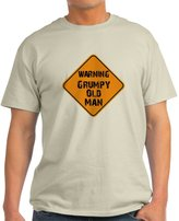 CafePress - Grumpy Old Man Warning T Shir T-Shirt - Unisex Crew Neck Cotton T-Shirt, Comfortable & Soft Classic Tee with Unique Design