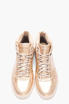 Diesel gold snakeskin Invasion Top sneakers