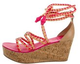 Tory Burch Lace-Up Cork Wedges