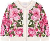 Dolce & Gabbana Rose print silk cardigan
