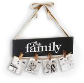"Mud Pie Our Family"" Clothespin Hanging Photo Holder"