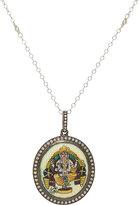 Feathered Soul Women's Diamond-Embellished Ganesh Pendant Necklace