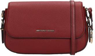 Michael Kors Shoulder Bag In Bordeaux Leather