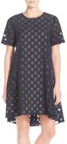 Donna Morgan Polka Dot Jacquard Trapeze Dress