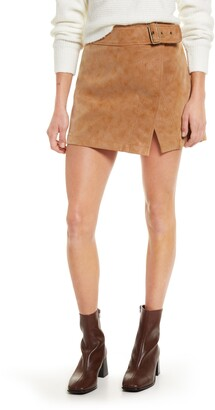 Free People Ari Buckle Waist Mini Skirt