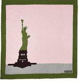 Amber Hagen Statue Of Liberty Baby Blanket-GREEN, PINK