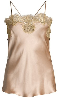 Gilda and Pearl Gina Lace-Trim Silk Camisole