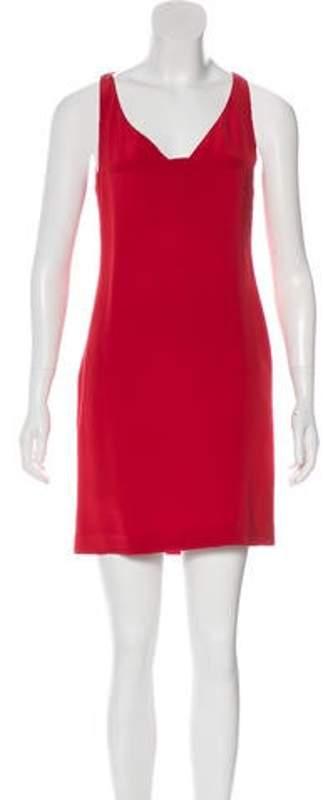 Saint Laurent Silk Mini Dress Red Silk Mini Dress