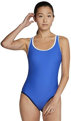 Speedo Contrast Binding One-Piece (Hyper Blue) Women's Swimsuits One Piece