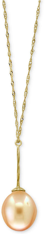 """Effy Pearl Lace by Cultured Golden South Sea Pearl (11mm) Pendant 18"""" Necklace in 14k Gold"""