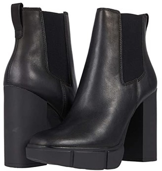 Steve Madden Revised Bootie (Black Leather) Women's Shoes