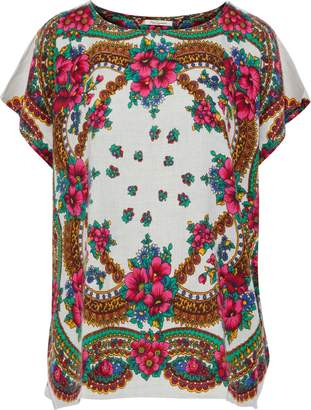 Mes Demoiselles Pachtou Printed Brushed Cotton-blend Twill Top