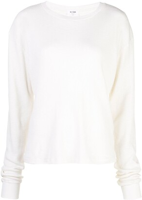 RE/DONE Long-Sleeve Fitted Top