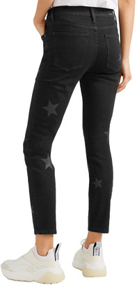 Current/Elliott The Stiletto Printed High-rise Skinny Jeans