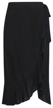Dorothy Perkins Womens Black Wrap Midi Skirt, Black