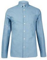 Burton Mens Tall Teal Long Sleeve Oxford Shirt