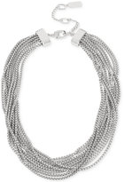 Kenneth Cole New York Silver-Tone Multi-Chain Collar Necklace