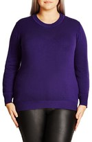City Chic Plus Size Women's Zigzag Sweater