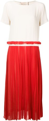 Erika Cavallini Contrast Pleated Dress