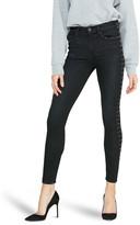 Hudson Barbara Super Skinny Ankle Jeans w/ Studs