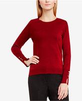 Vince Camuto Button-Cuff Sweater