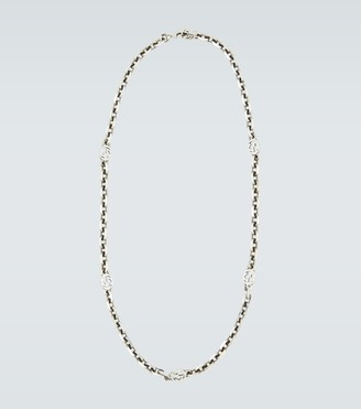 Gucci Interlocking silver necklace