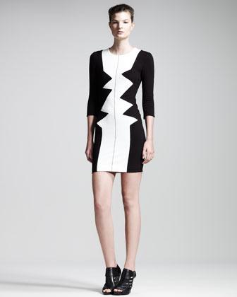 Kelly Wearstler Dezza Colorblock Dress