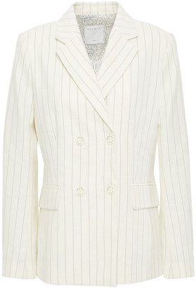Sandro Anyon Pinstriped Cotton-blend Twill Blazer