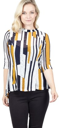 M&Co Izabel striped tunic top