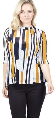 M&Co Izabel striped tunic top