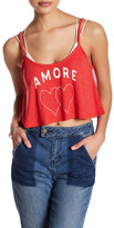 Wildfox Couture Amore Heart Cropped Tank