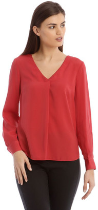 Basque V Neck Tab Slv Top
