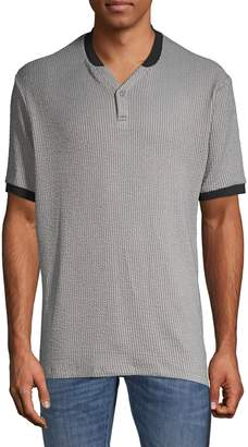 Karl Lagerfeld Paris Short-Sleeve Henley