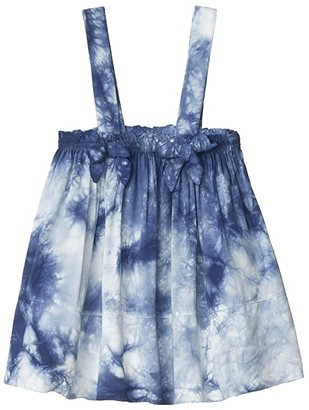 Splendid Littles Tie-Dye Woven Tank (Big Kids) (Dark Surf) Girl's Clothing