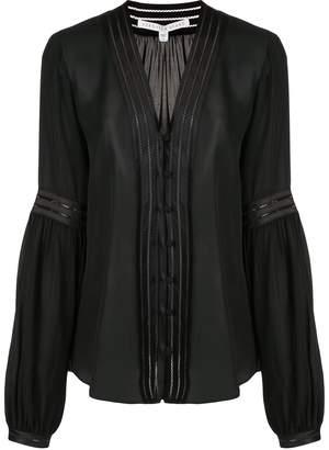 Veronica Beard Yumi pintuck-pleated silk shirt