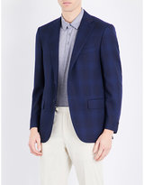 Corneliani Leader-fit Prince Of Wales Check Wool Jacket