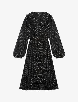 Maje Ribul graphic-print mini crepe dress