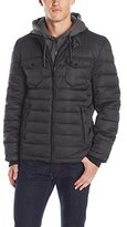 Buffalo David Bitton Buffalo by David Bitton Men's Poly Zip Front with Bib/Hood Insert