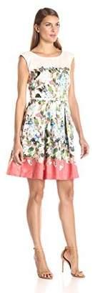 Julian Taylor Women's Belted Floral-Print Dress