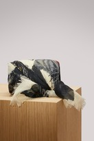 Gucci Tiger face print wool silk shawl