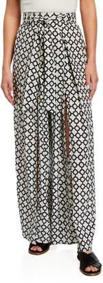 Nordic Pure Selma Printed Wide-Leg Pants