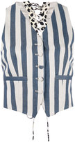 Roberto Cavalli striped waistcoat - women - Silk/Cotton/Hemp/Viscose - 38