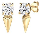 Elli Lace Stud Earrings 925 Silver with White Crystal with Pear Cut 0303881715