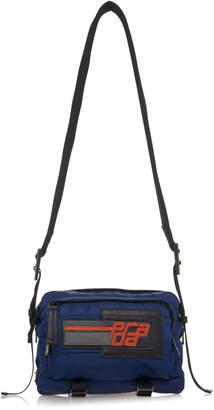 Prada Blue Nylon Quilted Camera Bag