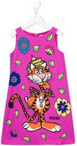 Moschino Kids - tiger print dress - kids - Polyester/Spandex/Elastane - 4 yrs