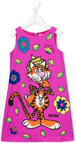 Moschino Kids - tiger print dress - kids - Polyester/Spandex/Elastane - 8 yrs